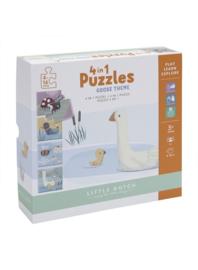 Kleine gans - 4 in 1 puzzel