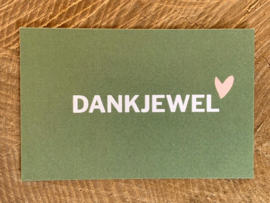 Mini kaart - Dankjewel