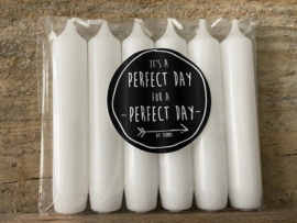 Kaarsen Wit - It's a Perfect Day for a Perfect Day