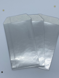 Cadeauzakje - Zilver - 5 stuks