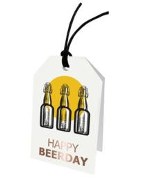 Cadeaulabel -  Happy Beerday