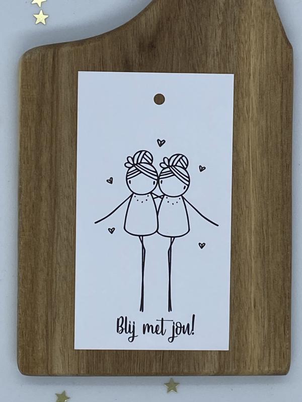 Mini cadeaulabel - Blij met jou!