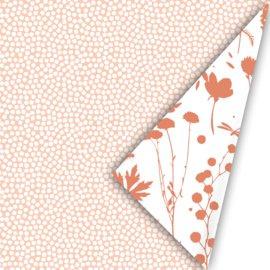 Cadeaupapier - Spring cubes peach