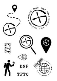 Geocaching Stamp set