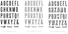 Lou alfabet UPPERCASE stempelset