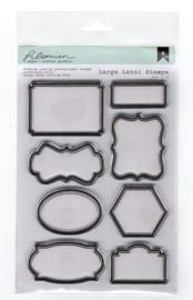 Filomien Large Label stempelset