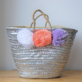 Silver painting basket L 01