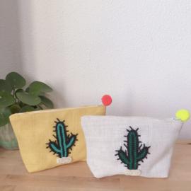 Cactus Hemp pouch White