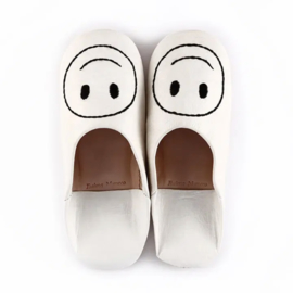 Smiley babouche White x Black