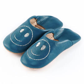Kids' smiley babouche Blue x Sirver