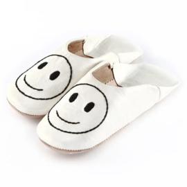 Kids' smiley babouche White x Black