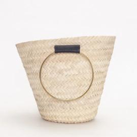 Round handle basket M Black