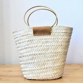 Round handle basket M Natural