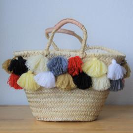 Double tassel basket Natural