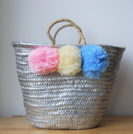 Silver painting basket L 02