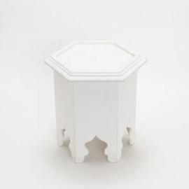 Hexagon mini table White