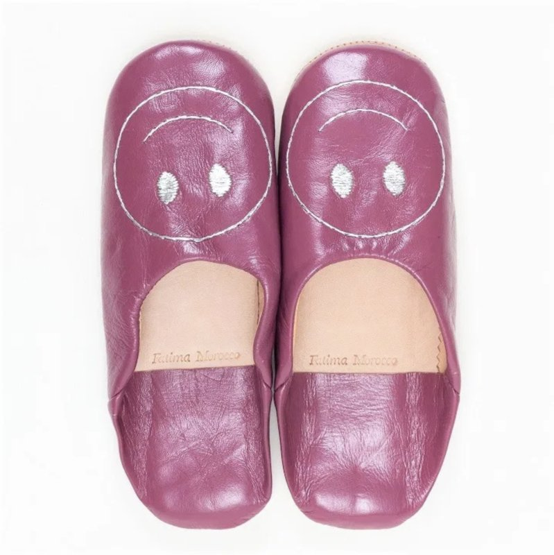 Smiley babouche Pink x Silver