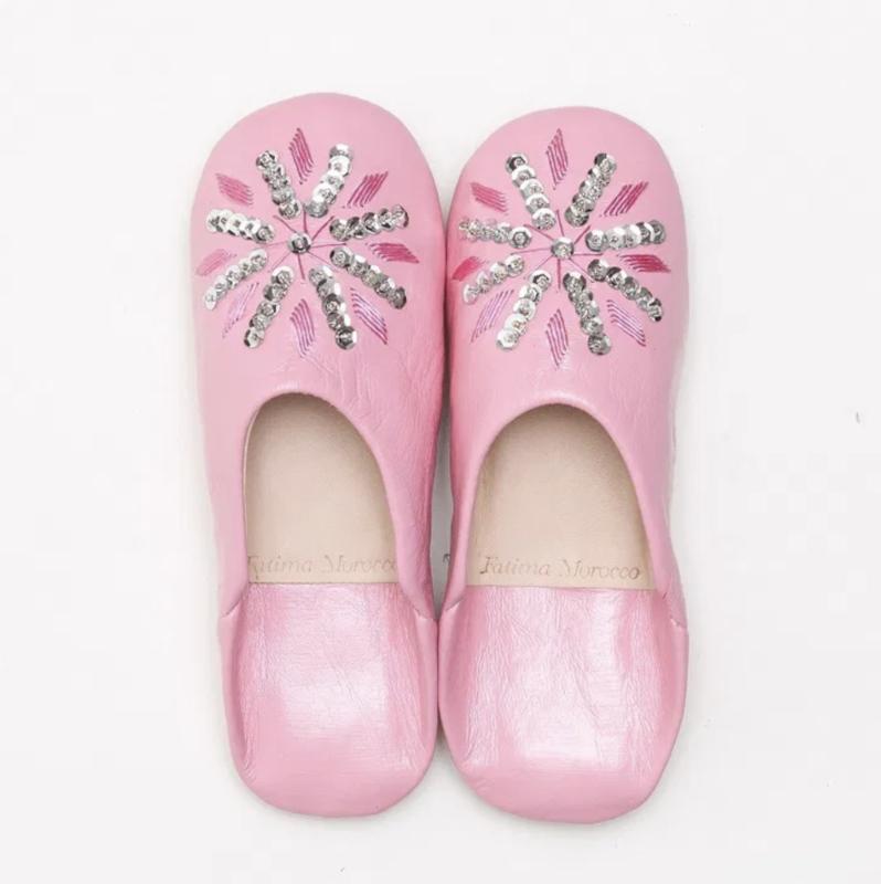 Kids' sequin babouche Pink
