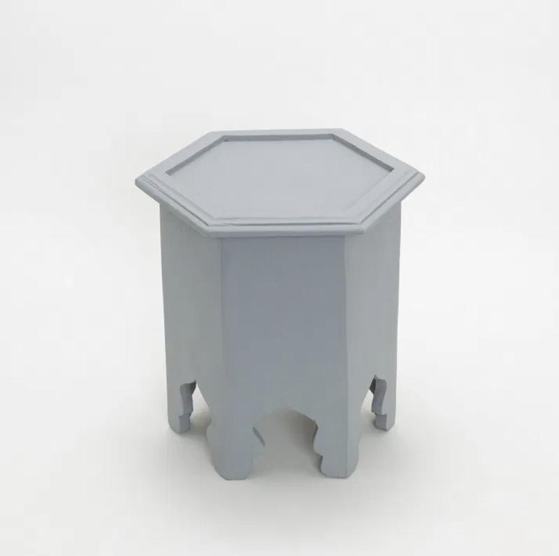 Hexagon mini table Gray