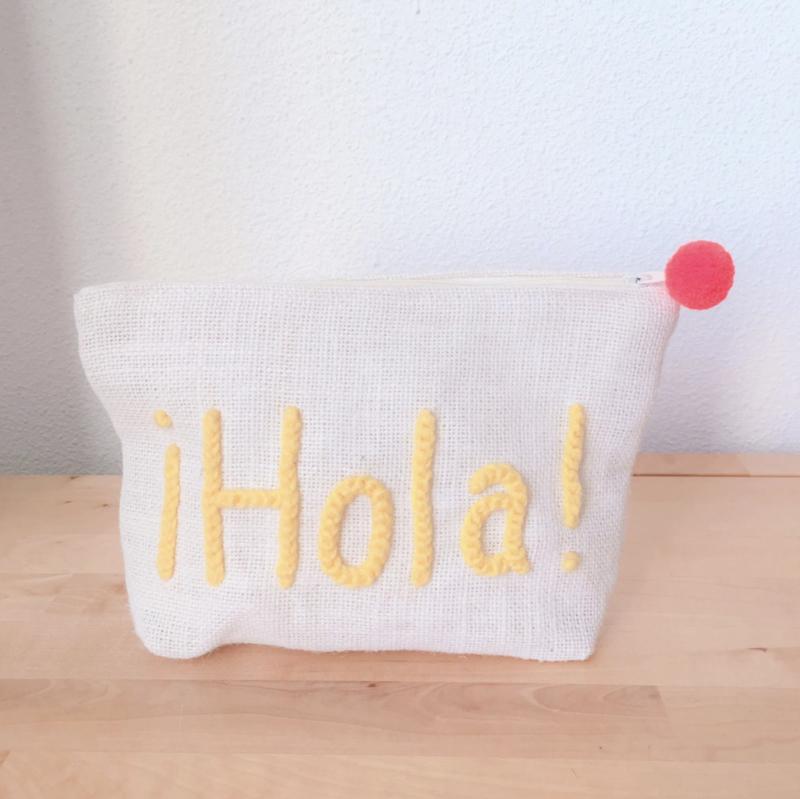 Hola! Hemp pouch Yellow
