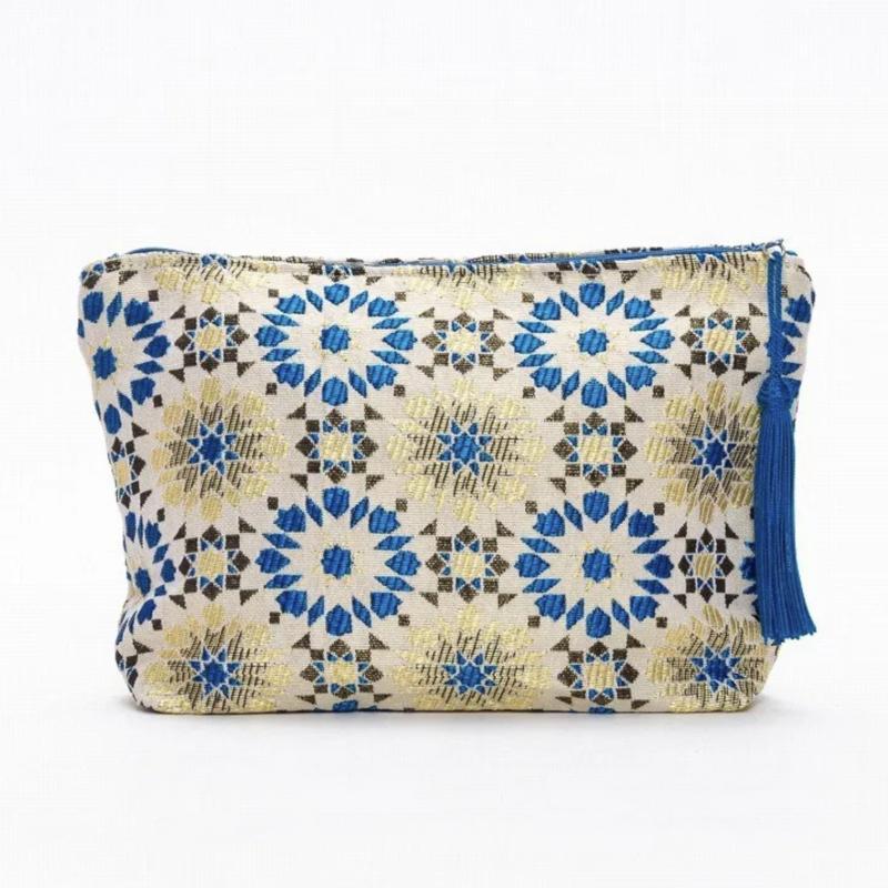 Arabesque pouch L Blue