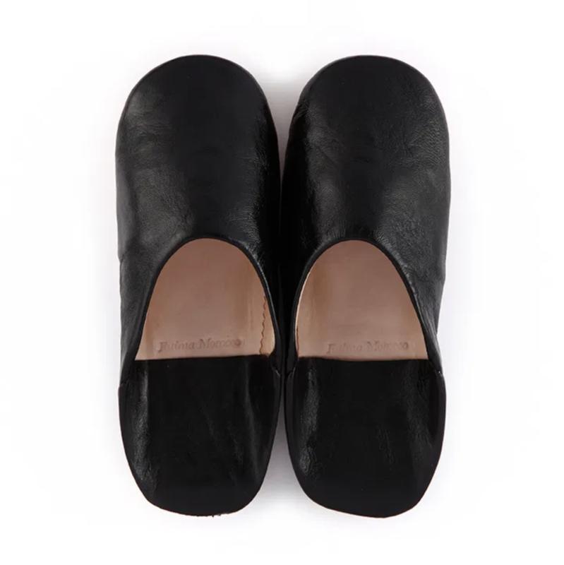 Babouche simple Black