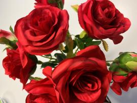Boeket rode rozen van zijde