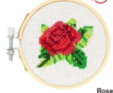 Kikkerland borduursetje roos