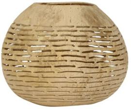 Waxinelichthouder kokosnoot Haki