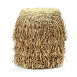 The Raffia Shaggy Stool - rond
