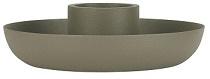 IB Laursen - Kandelaar voor rustieke kaars dusty groen
