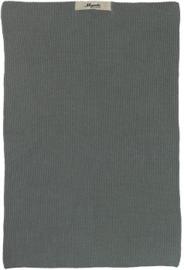 IB Laursen - Keuken handdoek Mynte mosgroen gebreid
