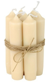 Kort diner kaarsje cream - IB Laursen