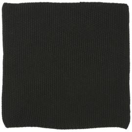 IB Laursen - Vaatdoek Mynte puur zwart gebreid