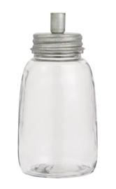 IB Laursen - Kandelaar glas voor dinerkaars metaal hoog