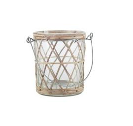 IB Laursen - Waxinelichthouder bamboe met metalen hengsel