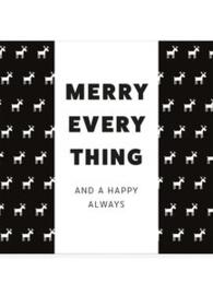 LIV 'N TASTE - Geschenkdoosje chocoladewens Merry everything and happy always