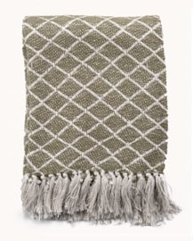 Home Society - Plaid Isola groen