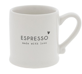 Bastion Collections - Espressokopje wit met tekst 'made with love '