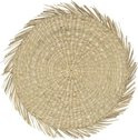 Placemat zeegras rond naturel
