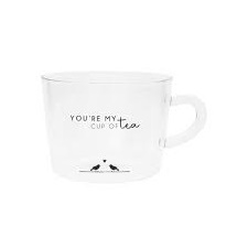 Bastion Collections - Theeglas met tekst You're my cup of tea