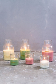 Home Society - Jar Candle Lisse geel