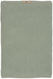 IB Laursen - Keuken handdoek Mynte dusty groen gebreid