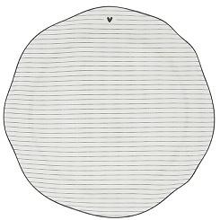 Bastion Collections - Dinerbord wit met zwarte streepjes en hartje