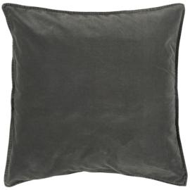 IB Laursen - kussen velvet thunder grey (52x52cm)