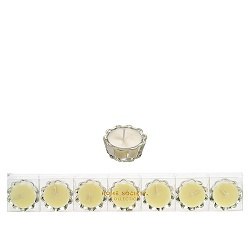 HS- Flower Votive kaarsjes wit - set van 6