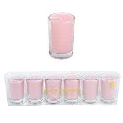 Votive kaarsjes roze - set van 6 - HS