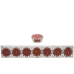 HS- Flower Votive kaarsjes nude - set van 6