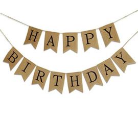 Slinger jute 'Happy birthday'