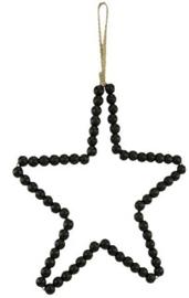 Kralenhanger ster zwart